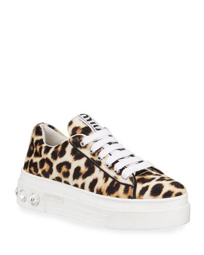 Cheetah-Print Platform Sneakers
