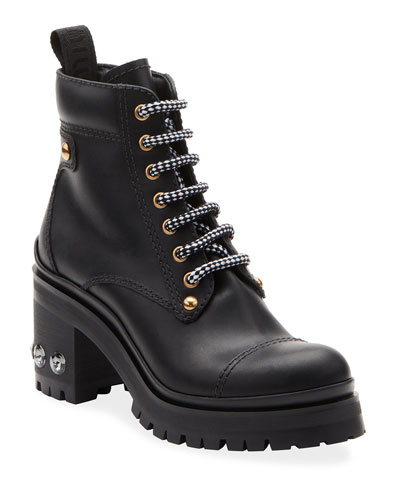 ee02c5131a894 Lace Up Leather Ankle Boot | Neiman Marcus