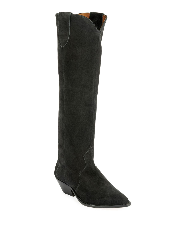 Denvee Suede Tall Boots