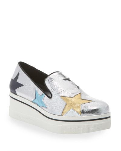 Binx Metallic Stars Platform Sneakers