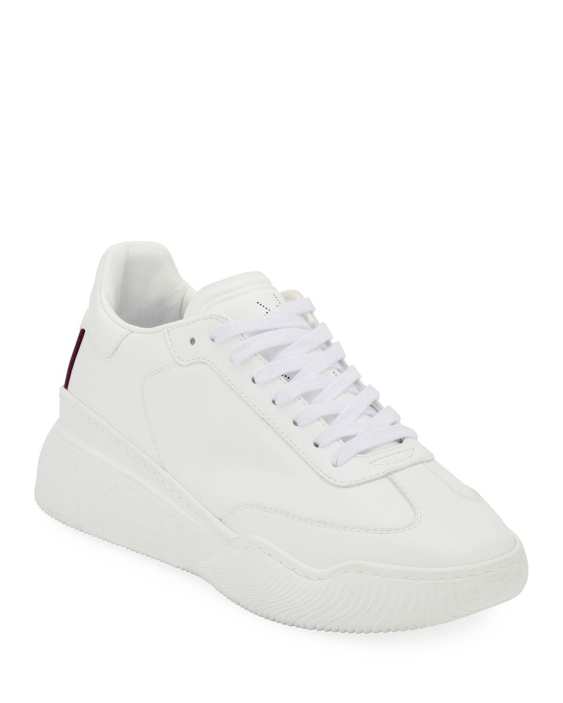 Loop Faux-Leather Sneakers