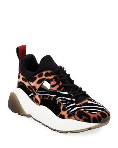 Eclypse Leopard and Zebra Sneakers