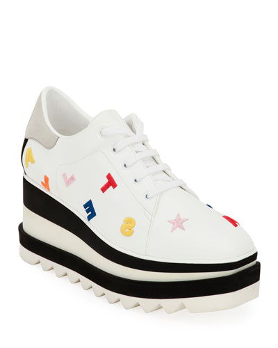 Elyse Embroidered Lace-Up Sneakers