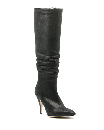 Tall Scrunched Pointed Boots