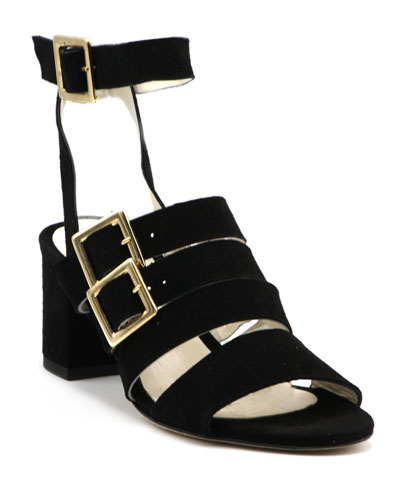 Chunky-Heel Buckle Sandals