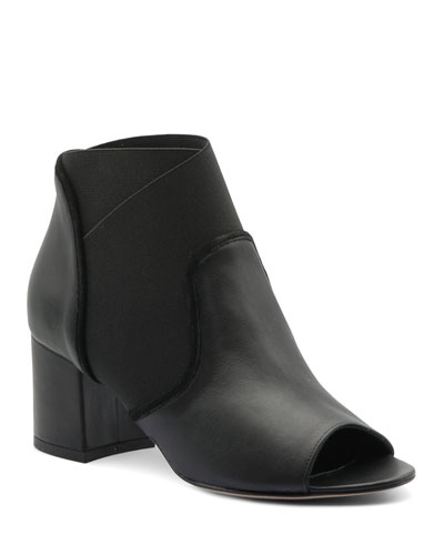 Napa Leather Stretch Booties