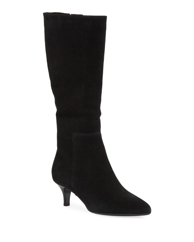 Drake Waterproof Kitten-Heel Knee Boots