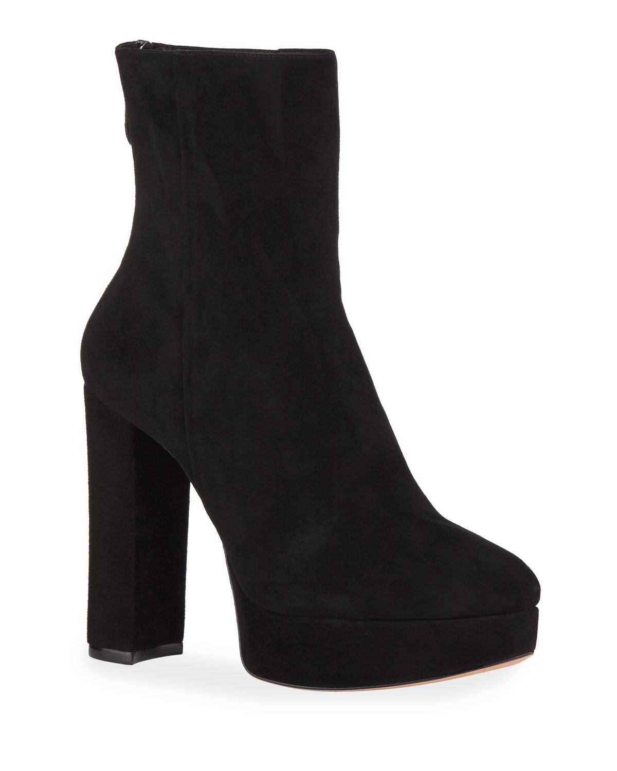 Rachel Suede Zip Booties