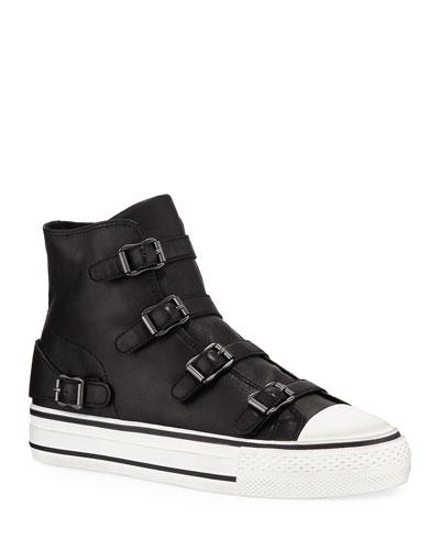 Virgin Leather Buckle Sneakers