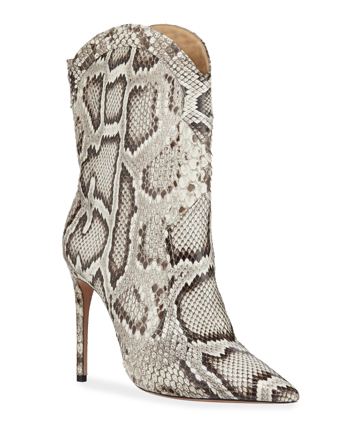 Esther Exotic Python Pointed Boots