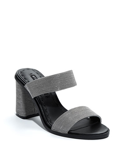 Talliey Chunky-Heel Slide Sandals