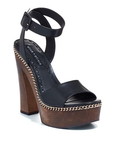 Faira Wood Platform Sandals