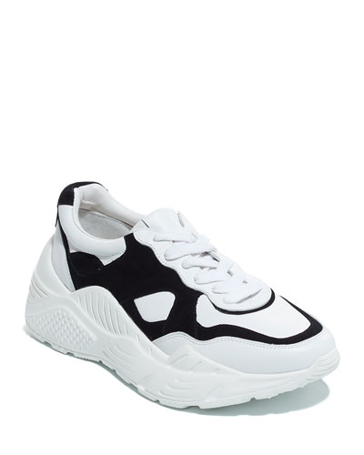 Claudine Two-Tone Laced Sneakers