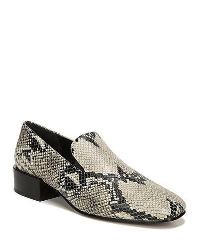 Baudelaire Snake-Print Loafers