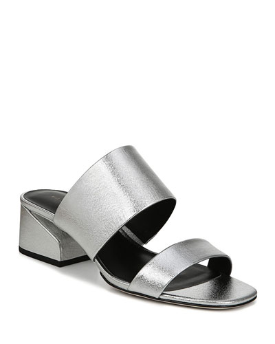 Philipa Metallic Slide Sandals