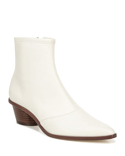Odette Stretch Leather Booties