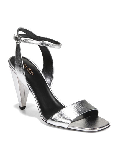 Ria Metallic Ankle Sandals