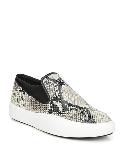 Yvonne Snake-Print Platform Sneakers