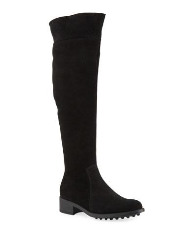 Scarlit Weatherproof Suede Knee Boots
