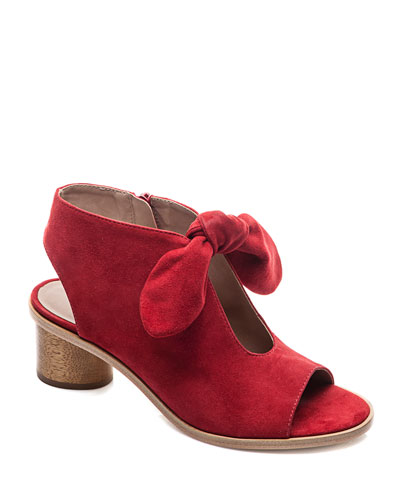 Luna Knotted Suede Sandal Booties