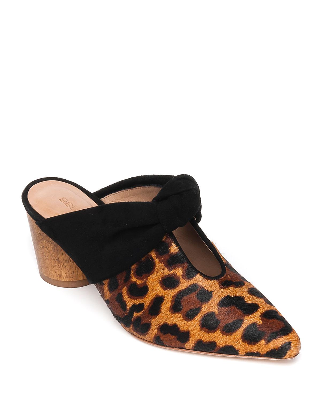 Finley Leopard-Print Slide Mules