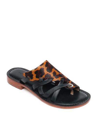 Tenley Leopard-Print Sandals