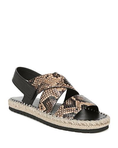 Tenison Snake-Print Sandals