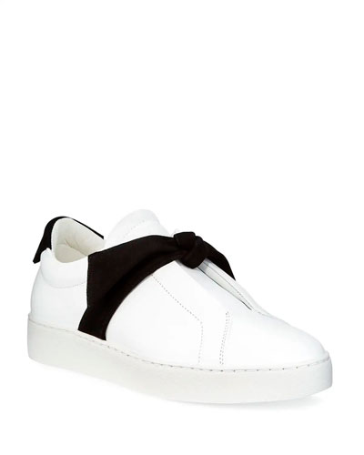 Clarita Two-Tone Sneakers, White/Black