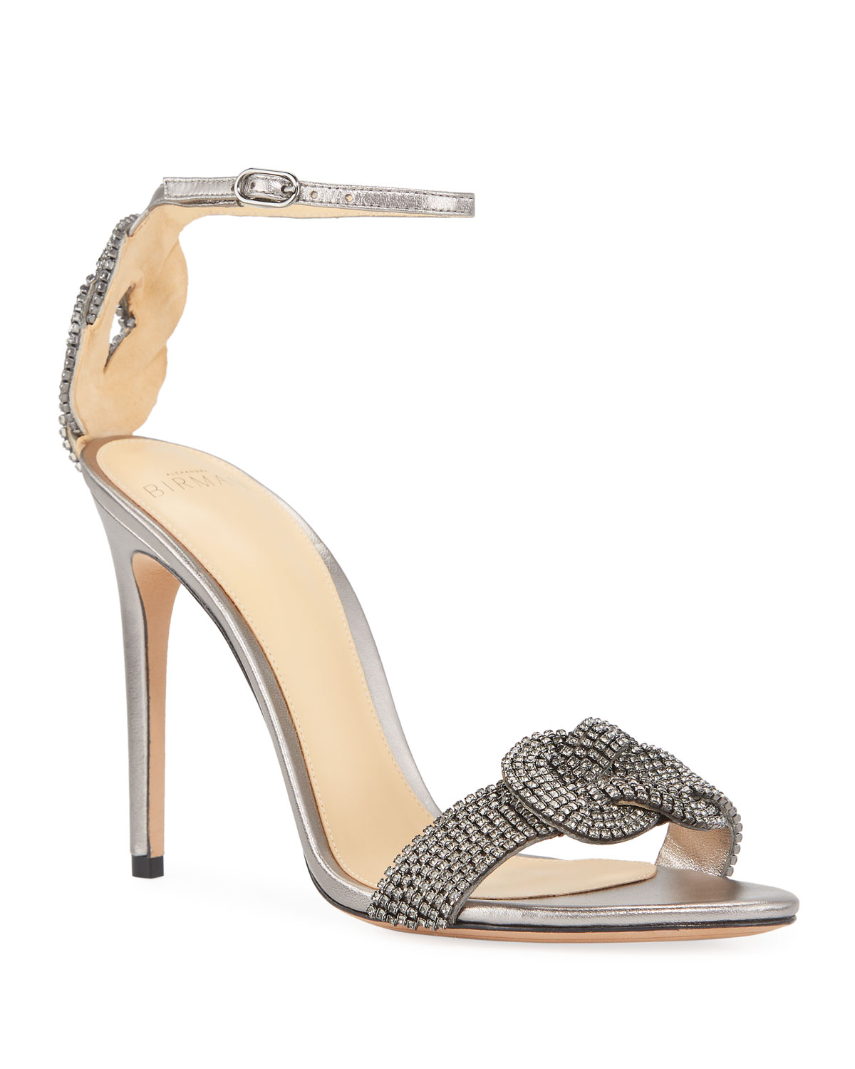 Vicky Crystal Metallic Sandals
