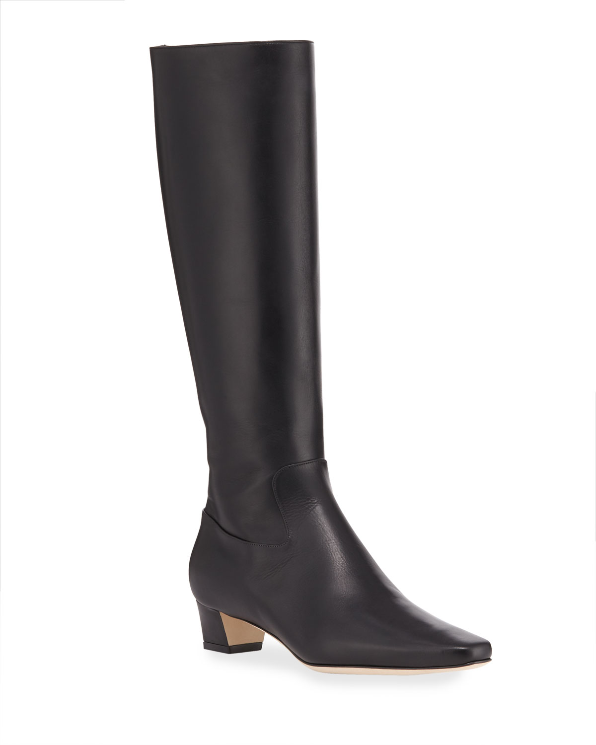 Theseus Leather Knee Boots