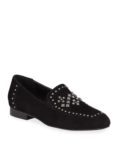 Lukas Studded Suede Loafers