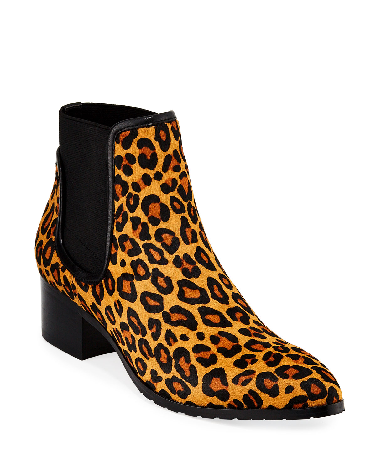 Dyla Leopard-Print Calf Hair Booties