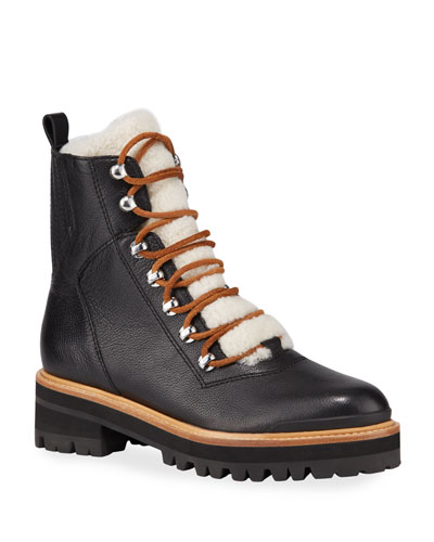 Izzie Shearling Fur Hiker Boots