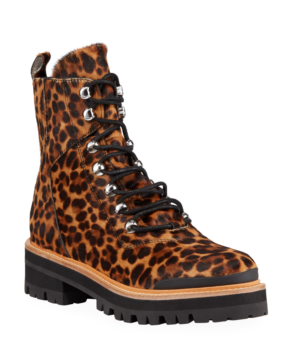 Izziely Leopard Hiker Boots