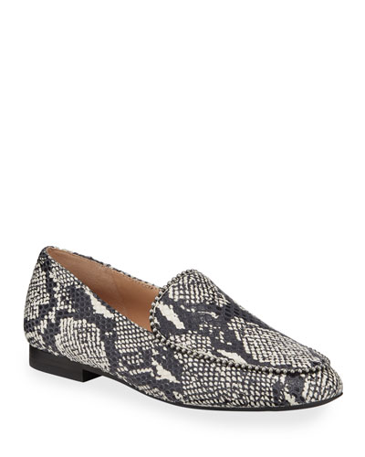 Harper Snake-Print Loafers