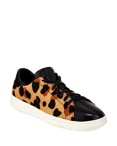 Grandpro Cheetah-Print Tennis Sneakers