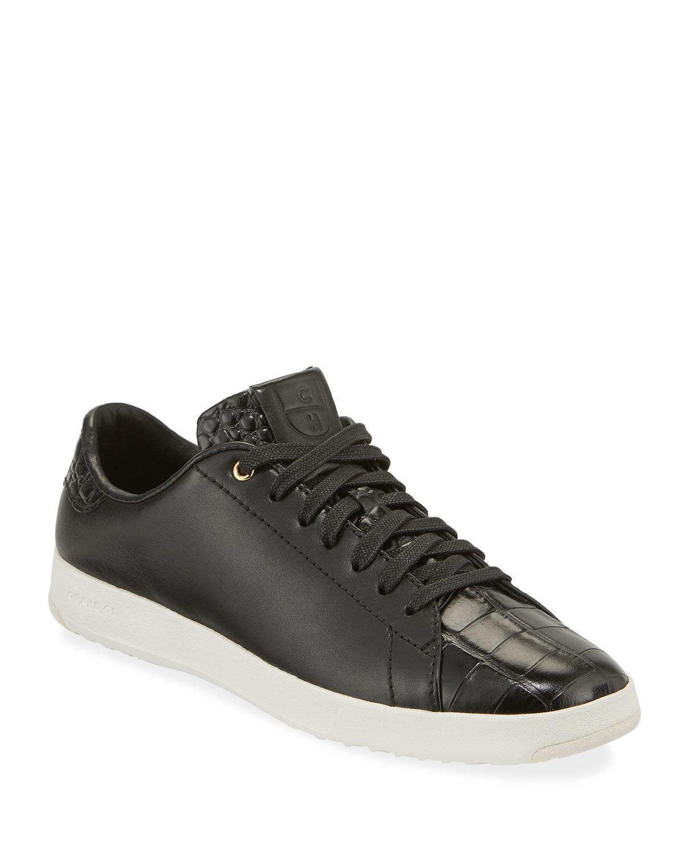 Grandpro Croc-Embossed Tennis Sneakers