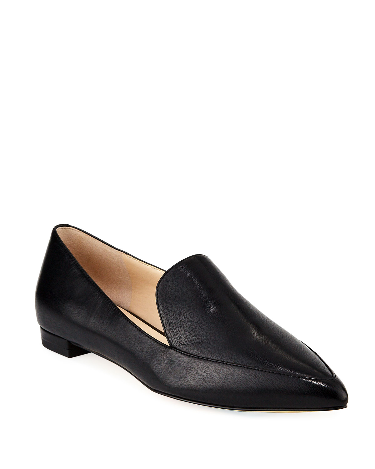 Brie Grand Smooth Leather Flats