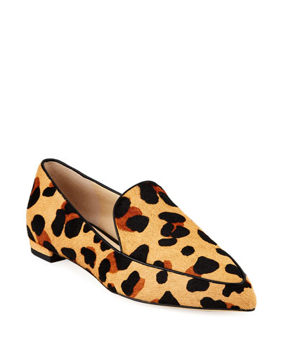 Brie Grand Leopard-Print Loafer Flats