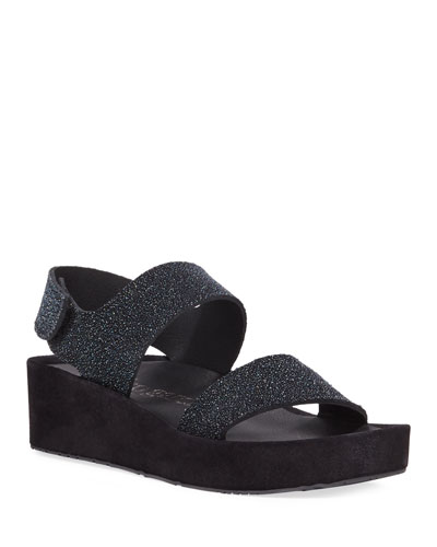 Lacey Textured Platform Sandals
