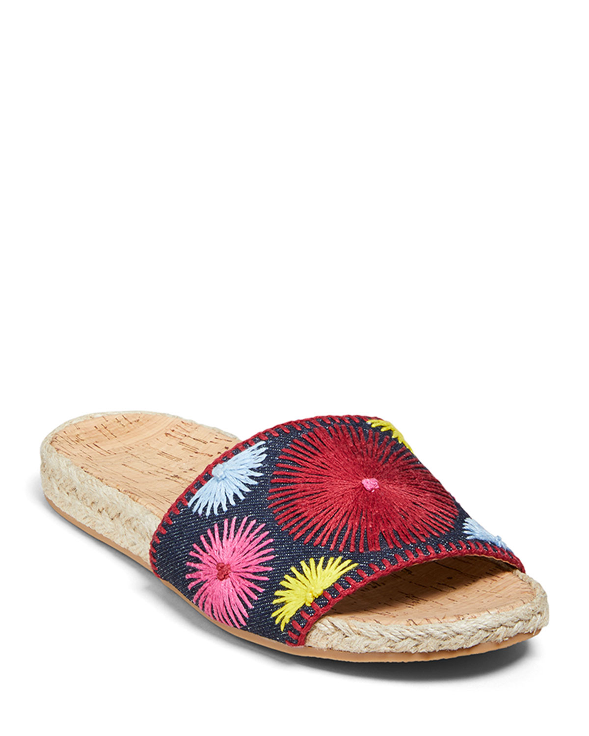 Bettina Slide Embroidered Sandals