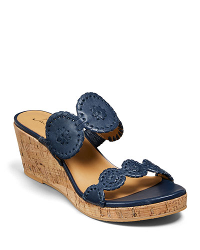 Lauren Leather Wedge Sandals