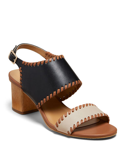 Sloane Two-Tone Sandals