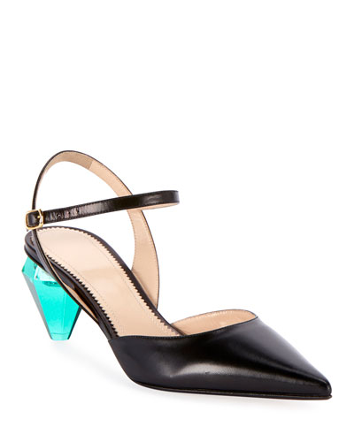 The Slingback Leather Pumps