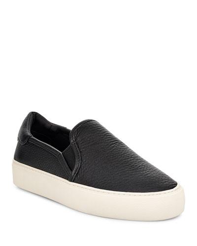 Jass Suede Platform Sneakers, Black