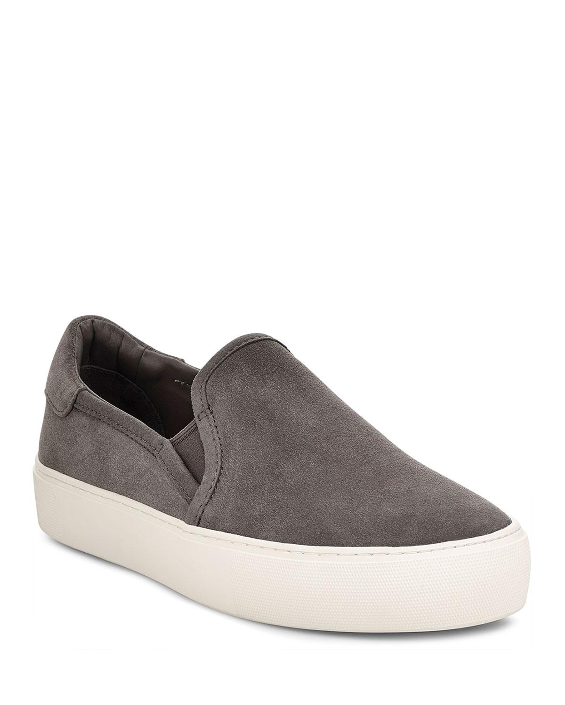 Jass Suede Platform Sneakers, Gray