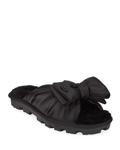 Lushette Satin Puffer Slippers