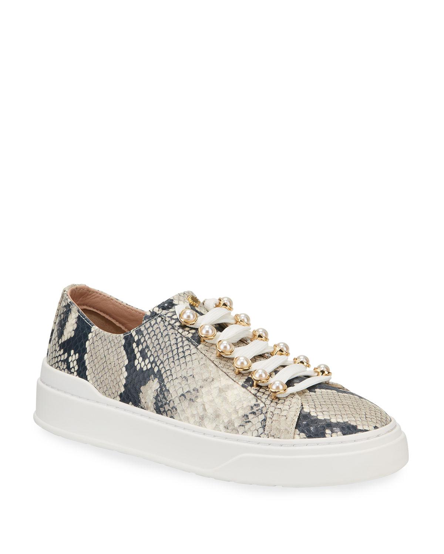 Excelsa Snake-Print Sneakers