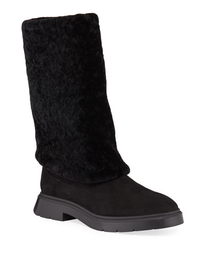 Luiza Chill Shearling Booties