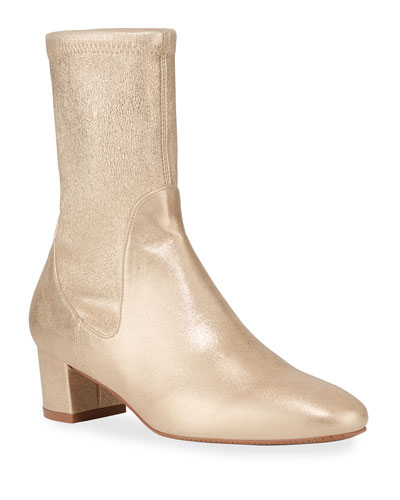 Ernestine Metallic Sock Booties
